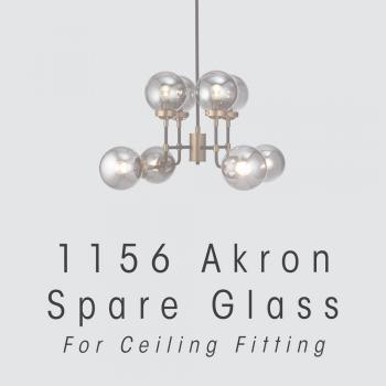 Akron Ceiling Fitting Glass